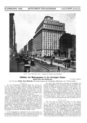 76, JAHRGANG. 1926. ZEITSCHRIFT FÜR BAUWESEN 4, BIS 6 ...
