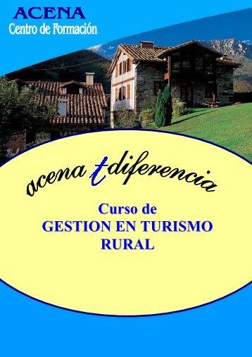 Curso de GESTION EN TURISMO RURAL