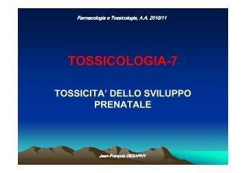 Teratogenesi - Università degli Studi di Bari