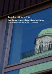 Tag der offenen Tür Freiherr-vom-Stein-Gymnasium