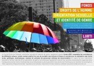 fonds droits de l'homme orientation sexuelle et identité de genre lgbti