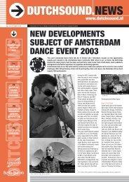 new developments subject of amsterdam dance ... - Buma Cultuur