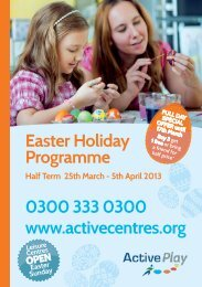 Easter Holiday Programme Half Term 25th March - Active Centre