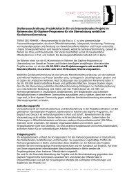 Stellenausschreibung: ProjektleiterIn für ein ... - Gender Studies