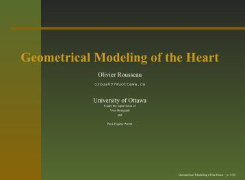 Geometrical Modeling of the Heart