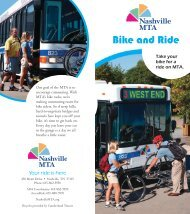 Bike and Ride - Nashville MTA