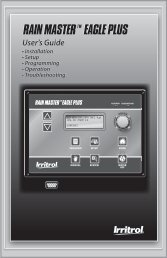 Eagle Plus User's Guide - Rain Master Control Systems