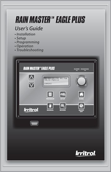 Eagle Plus User's Guide - Rain Master Control Systems