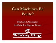 Can Machines Be Polite? - Artificial Intelligence Center