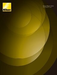 Annual Report 2010 (English) - Nikon