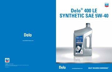 Delo® 400 LE SYNTHETIC SAE 5W-40