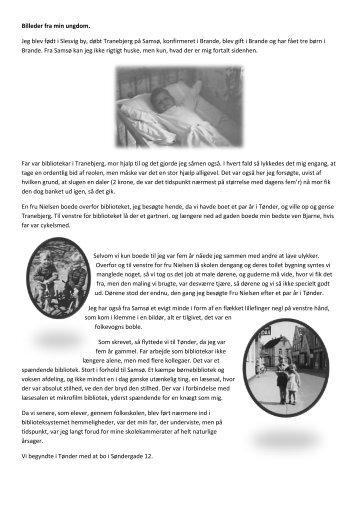 Billeder fra min ungdom. Jeg blev født i Slesvig by ... - Brande Historie