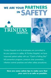 Patient Safety brochure - Trinitas Hospital