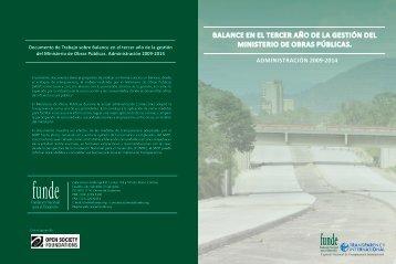BALANCE EN EL TERCER AÑO DE LA GESTIÓN DEL MINISTERIO ...