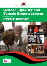 Gender Equality and Female Empowerment - Scotland Malawi ...