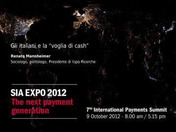 Gli italiani e la voglia di cash - SIA