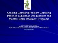 Creating Gambling/Problem Gambling Informed Substance Use ...