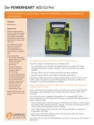 Der POWERHEART® AED G3 Pro® - Cardiac Science