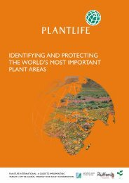 identifying and protecting the world's most important plant areas