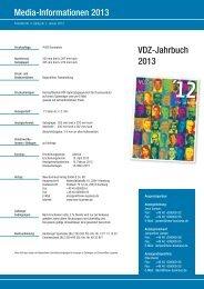 VDZ-Jahrbuch Mediadaten 2013 - New Business Verlag