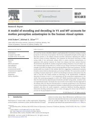A model of encoding and decoding in V1 and MT ... - Ariel Rokem