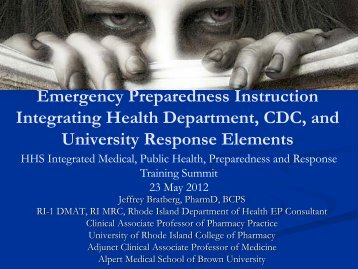 Zombie Emergency - The 2012 Integrated Medical, Public Health ...