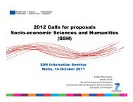 SSH 2012 Work Programme - The Malta Council for Science ...