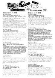 Download hier het programma 2011 - Schools at University for ...