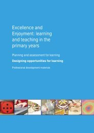 Designing opportunities for learning - PGCE