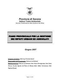 Piano provinciale di gestione dei rifiuti urbani e assimilati