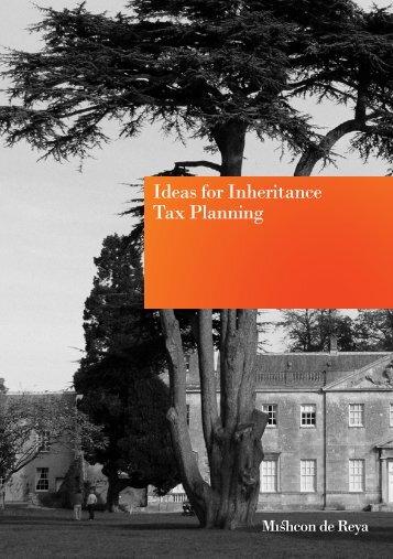 Ideas for Inheritance Tax Planning