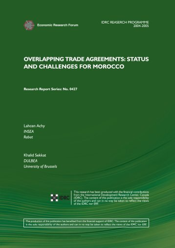 overlapping trade agreements: status and challenges for morocco