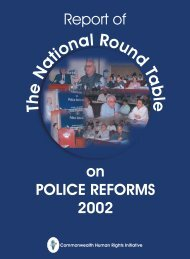 Roundtable Conference on Police Reforms, 2002 - Commonwealth ...