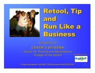 Retool, Tip and Run Like a Business - Augusoft
