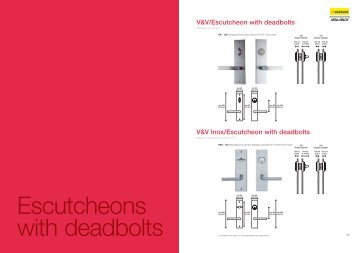 V&V/Escutcheon with deadbolts V&V Inox/Escutcheon ... - Hot2Cold