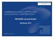 Portfolio in Deutsch Herunterladen - PROFUND Consult