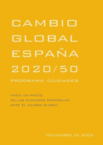 Cambio Global en España 2020/50. Programa Ciudades
