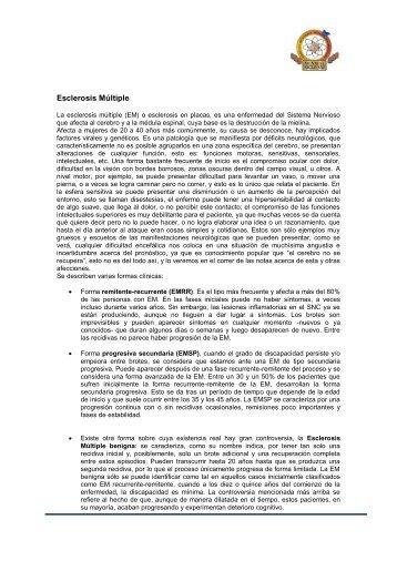 Esclerosis múltiple 01.pdf - Mundial Siglo 21 MEDICINA BIOLÓGICA ...