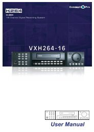 User Manual VXH264-16 - Crimehalt Security Specialists
