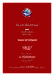 Katalog für Hersteller: Ardmore - und Getränke-Welt Weiser