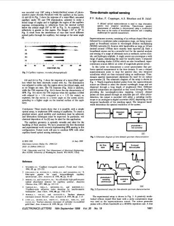 Time-domain optical sensing - Electronics Letters - jalali-lab @ ucla