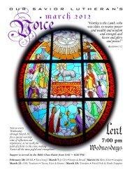 7:00 pm - Our Savior Lutheran Church