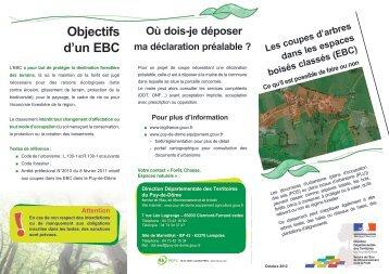 Plaquette Coupes d'arbres dans les EBC - Préfecture du Puy-de ...