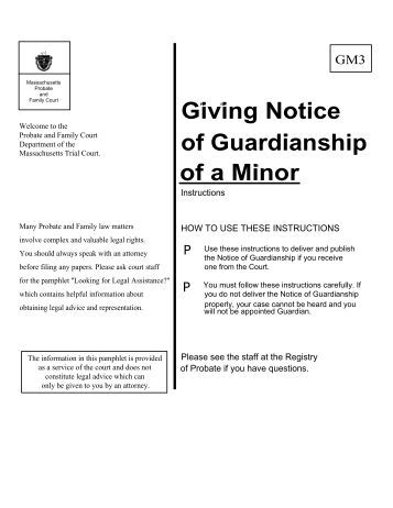 how to get guardianship of a minor