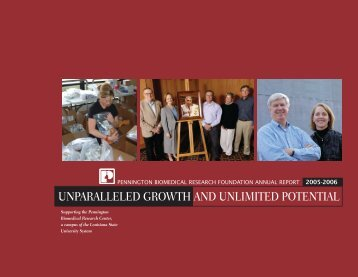 unparalleled growth and unlimited potential - Pennington ...