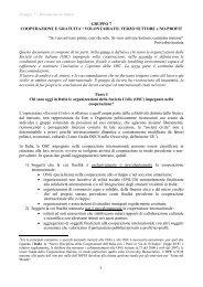 Gruppo 7 – Documento di sintesi 1 GRUPPO 7 COOPERAZIONE E GRATUITA ...