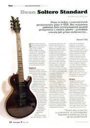 Dean Soltero Standard - TEST - Gitarzysta 05 maj ... - FX-Music Group