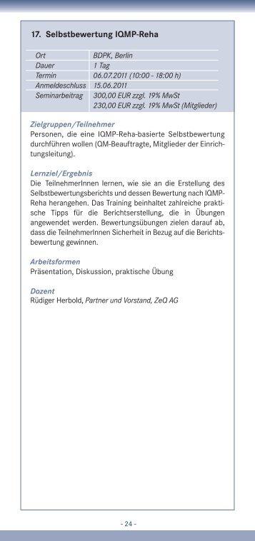 17. Selbstbewertung IQMP-Reha - IQMG Institut für ...