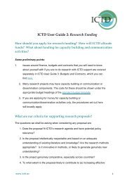 2. Research Funding 5th Oct 2011 - ICTD