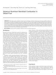 Aqueous Aluminum Nanofluid Combustion in Diesel Fuel